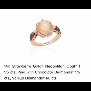LeVian Neopolitan Opal 14k Rose Gold Diamond Ring